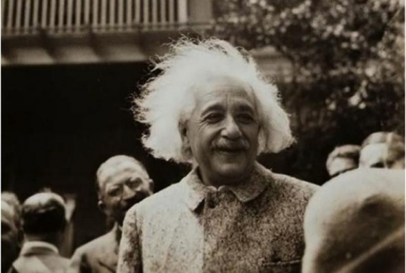 Albert Einstein und die Socken
