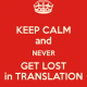 Lost in translation…