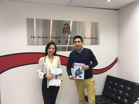 Norak AsiaPacific meets Silvia To at British Chamber of Commerce in Hong Kong