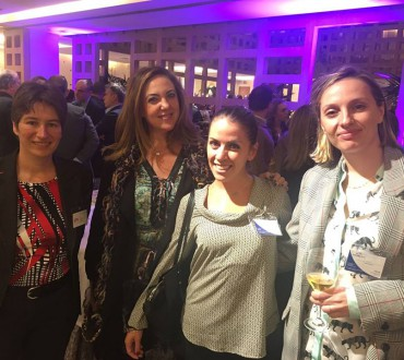 Part of our sales team of noraktrad Madrid at the Reception of European Business Drinks at Hesperia Hotel