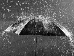 La pluie…